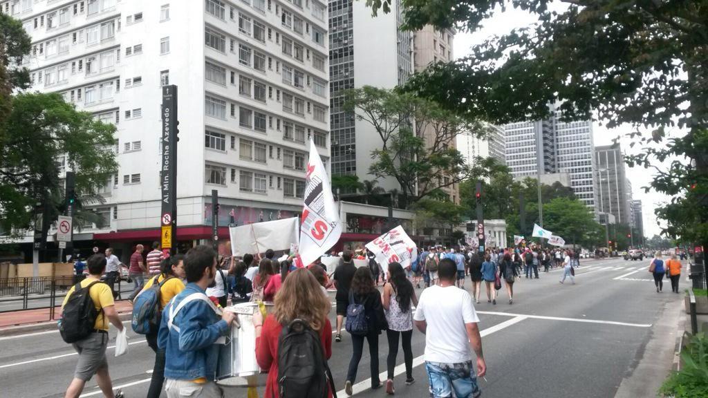 manifestação estudantes paulista carolina ercolin
