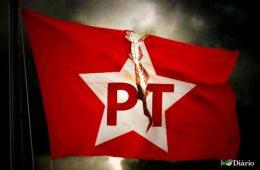 PT bandeira rasgada