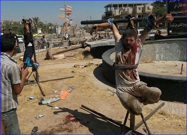 crucifixion iraq