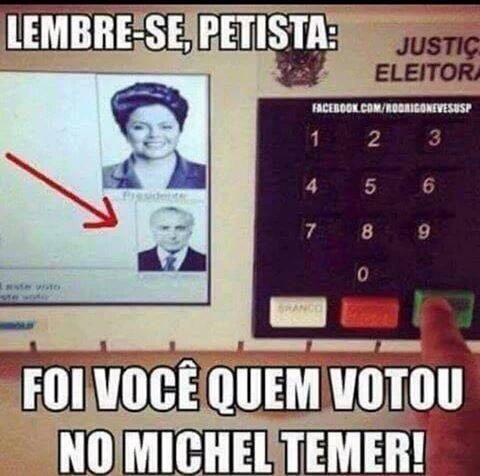 Urna Michel Temer chapa de Dilma Rousseff