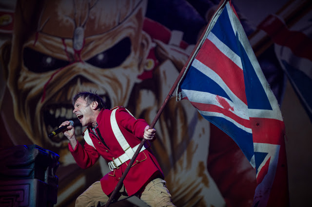 Bruce Dickinson The Trooper UK flag