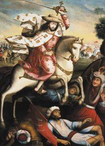 Apóstol Santiago en caballo