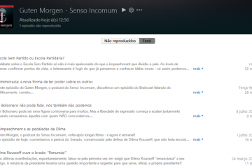 Feed do podcast Guten Morgen, do Senso Incomum