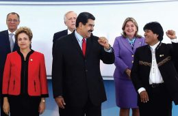 Dilma Rousseff, Nicolás Maduro, Evo Morales