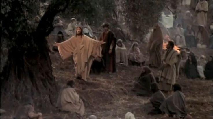 Jesus prega o Sermão da Montanha
