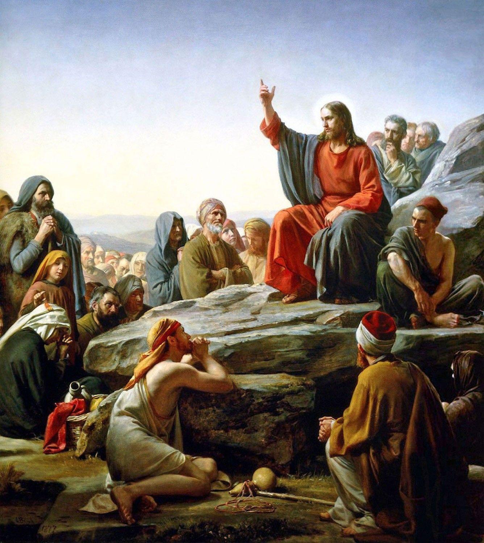 Jesus Cristo - Sermão da Montanha, por Carl Bloch