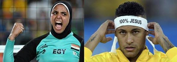 Neymar 100% Jesus - egípcia muçulmana de burkini
