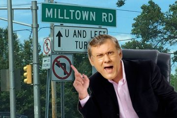 Milton Neves em Milltown, seguindo à esquerda