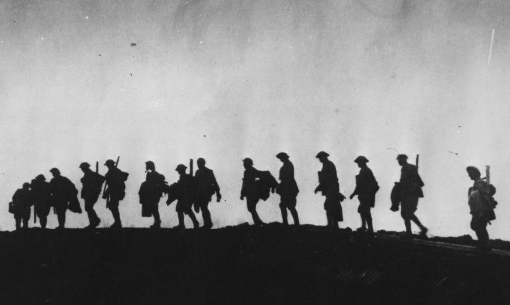 Primeira Guerra Mundial - soldados.