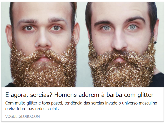 Vogue defende barba com glitter