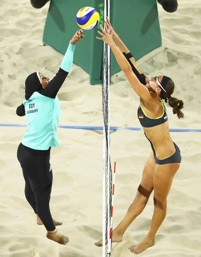 Vôlei de praia - Egito x Alemanha. Olimpíadas Rio 2016