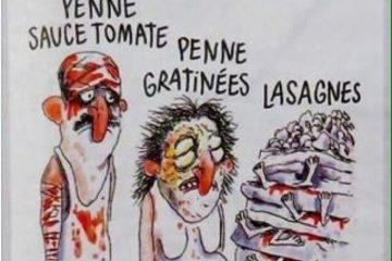 Charlie Hebdo compara vítimas de terremoto a pizzas