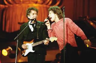 Bob Dylan e Mick Jagger