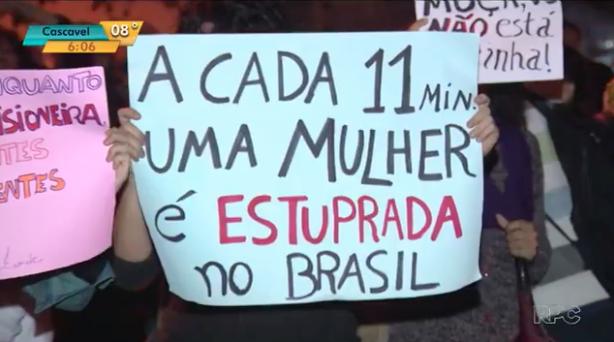 A cada 11 minutos, uma mulher é estuprada no Brasil