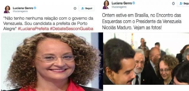 Luciana Genro sobre Nicolás Maduro da Venezuela - antes e depois.