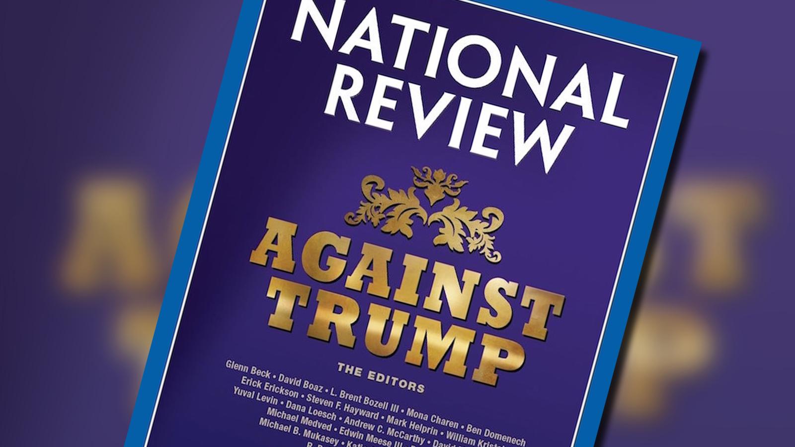 Capa da National Review contra Donald Trump