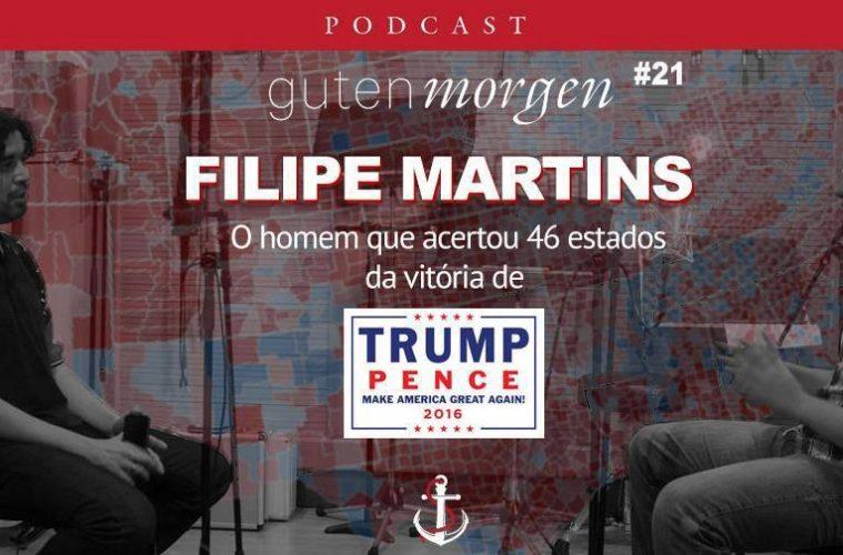 Guten Morgen 21: Filipe Martins, o homem que acertou 46 estados sobre a eleição de Donald Trump. Podcast do Senso Incomum.
