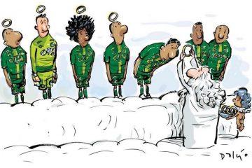 Time da Chapecoense no Céu. #ForçaChape
