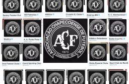 Homenagem dos clubes brasileiros à Chapecoense. #ForçaChape