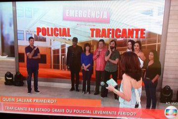 Encontro com Fátima Bernardes: Quem você salvaria, policial levemente ferido ou traficante gravemente ferido?