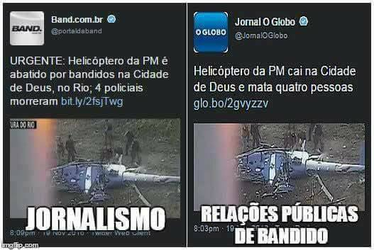 "Globo: helicóptero ""cai"""