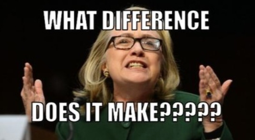 "Hillary Clinton sobre Benghazi: ""What difference does it make?"" (Que diferença faz?)"