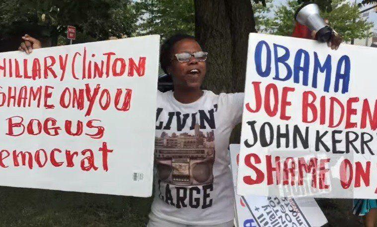 hillary-dnc-haitian-protest