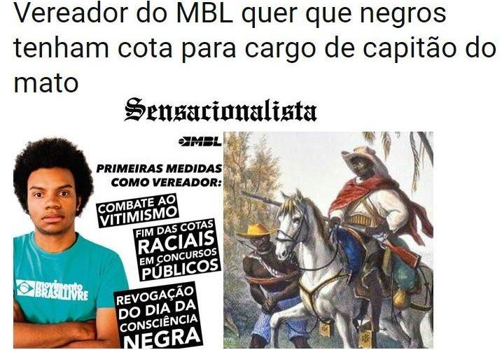 """Sensacionalista chama Fernando Holiday de """"capitão do mato"""""""