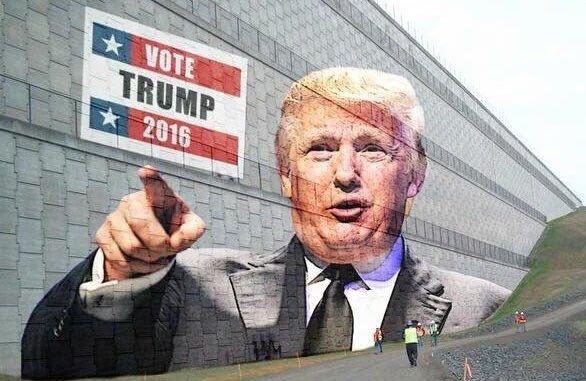Muro de Donald Trump na fronteira com o México