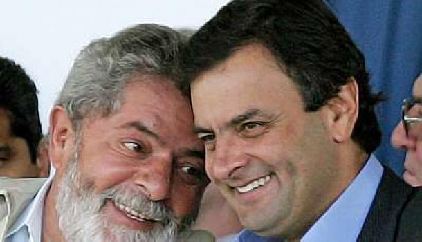 Lula e Aécio Neves