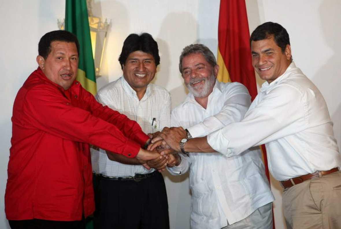 Lula, Hugo Chávez, Evo Morales, Rafael Correa