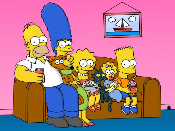 Sofá da família Simpsons