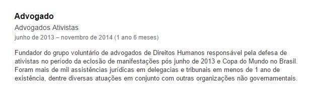 Advogados Ativistas - André Zanardo LinkedIn