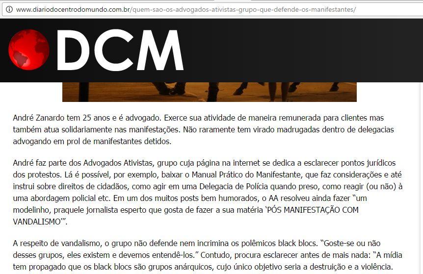 André Zanardo - Diário do Centro do Mundo - blackblocs