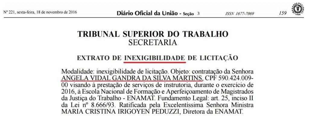 Angela Vidal Gandra - Inexigibilidade