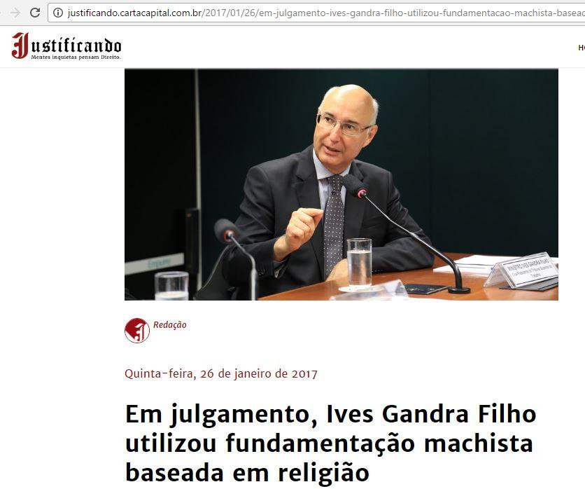 Justificando / Carta Capital - Ives Gandra Filho