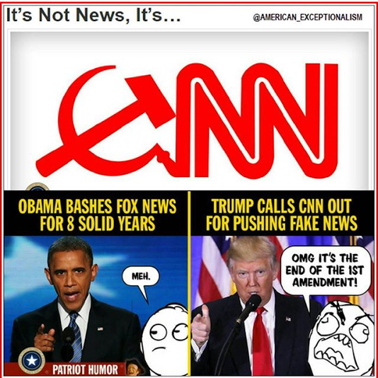 CNN Fake News. Donald Trump x Barack Obama and Fox News