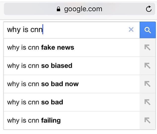 CNN no Google: Why is CNN Fake News, so biased, so bad