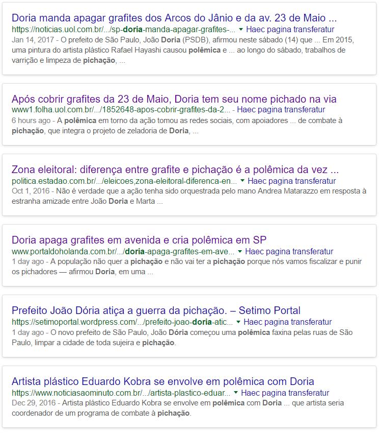 """João Doria e a """"polêmica"""" com grafiteiros e pichadores no Google"""