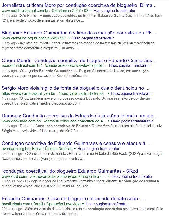 Blogueiros progressistas lamentam condução coercitiva de Eduardo Guimarães, do blog Cidadania