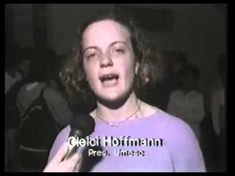 Gleisi Hoffmann em filmagem antiga