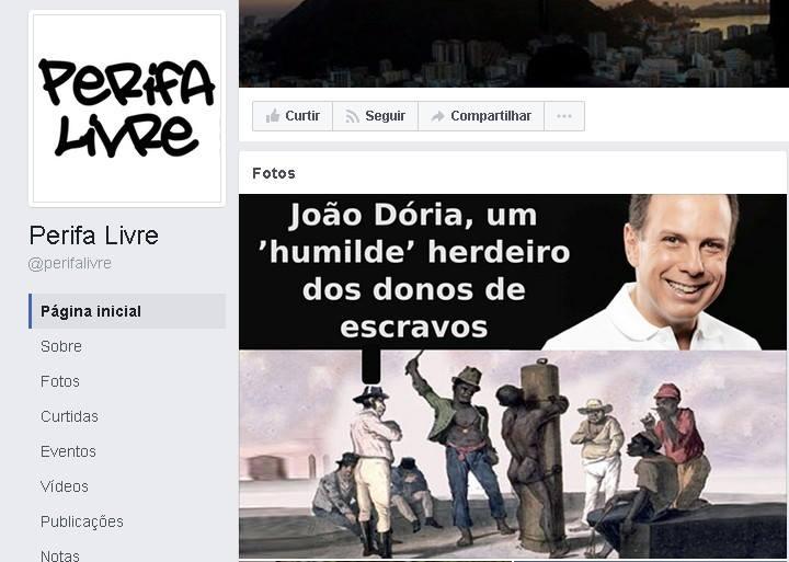 Perifa Livre, organizadora do boicote contra o Habib's, tem página contra João Doria