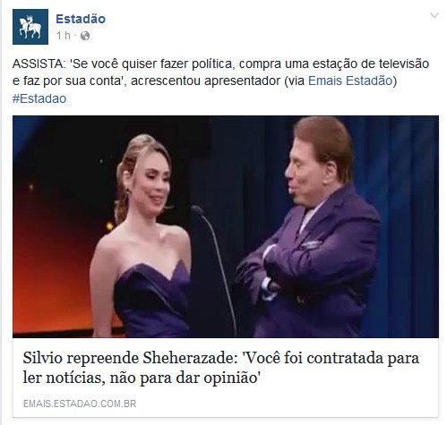 Estadão critica Rachel Sheherazade