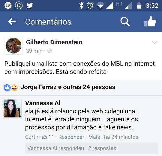 Gilberto Dimenstein acusa Senso Incomum de ligações possivelmente ilegais com o MBL
