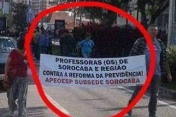 Greve de Professores - ou de Professoras (os) - em Sorocaba.
