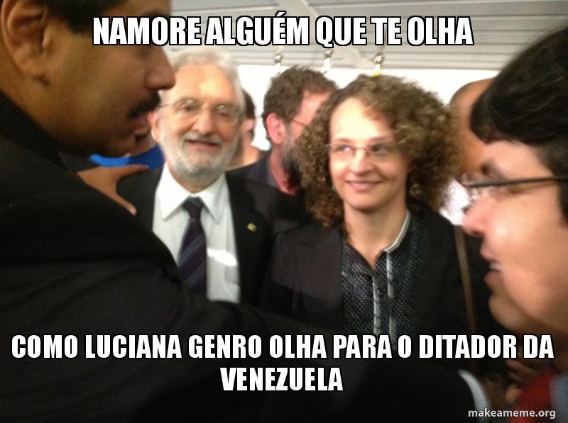 Luciana Genro encara Nicolás Maduro, ditador da Venezuela