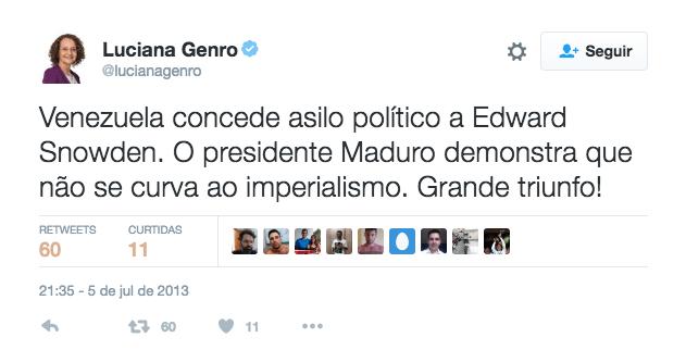 Luciana Genro sobre a Venezuela.