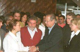 Lula no velório de Celso Daniel