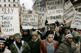 """Muçulmanos imigrantes """"refugiados"""" em Londres, 2006"""