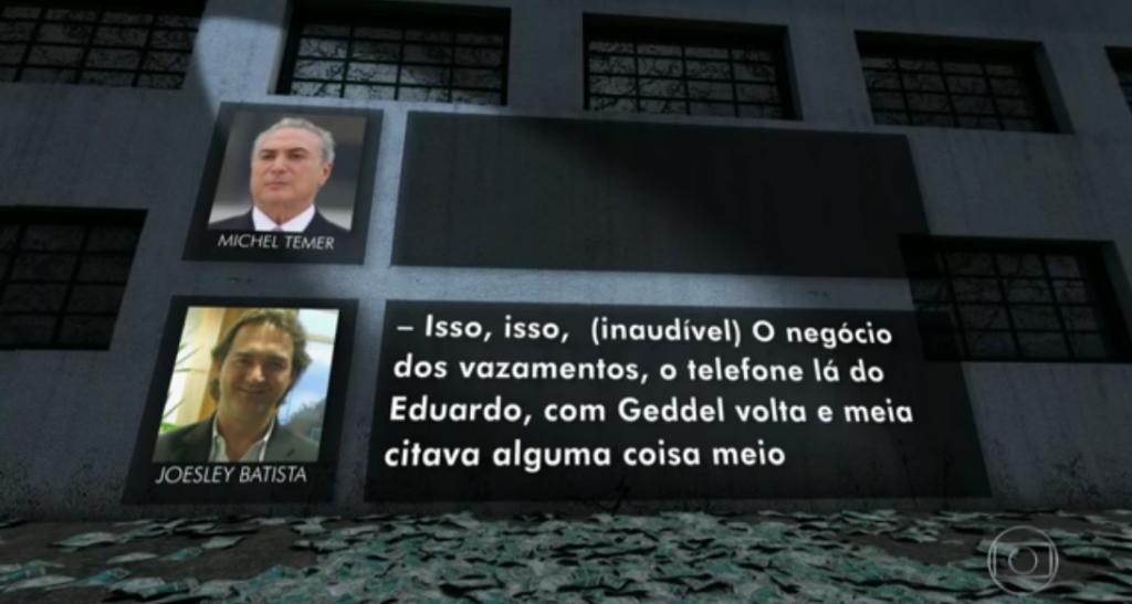 Joesley Batista e Michel Temer, Jornal Nacional